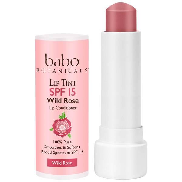 Babo Botanicals SPF15 Tinted Lip Conditioner - Wild Rose 0.15oz