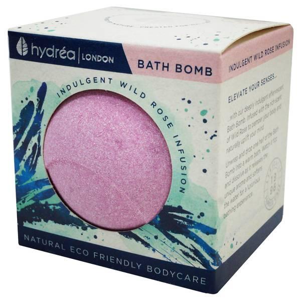 Hydrea London Indulgent Wild Rose Bath Bomb 2 x 60g