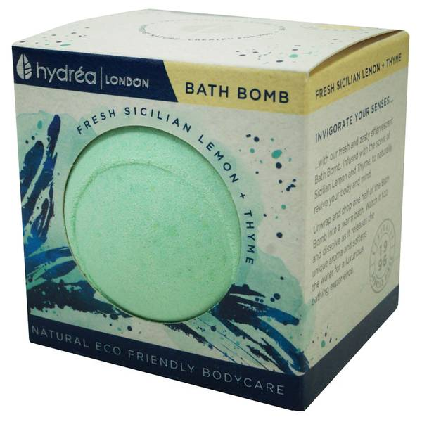 Hydrea London Uplifting Sicilian Lemon & Thyme Bath Bomb 2 x 60g