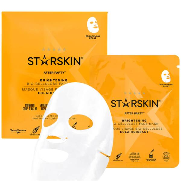 STARSKIN After Party Brightening Bio-Cellulose Face Mask