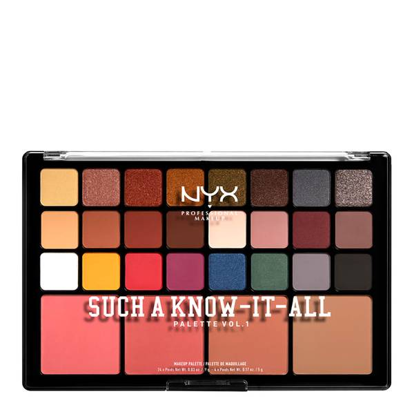 NYX Professional Makeup Such a Know-It-All Eye Shadow, Blusher and Contour Palette 41.6g