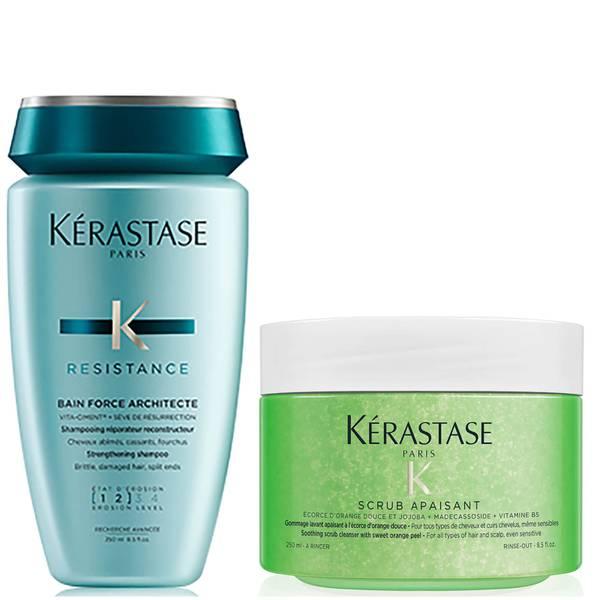 Kérastase Resistance Bain Force and Soothing Scrub Duo 250ml
