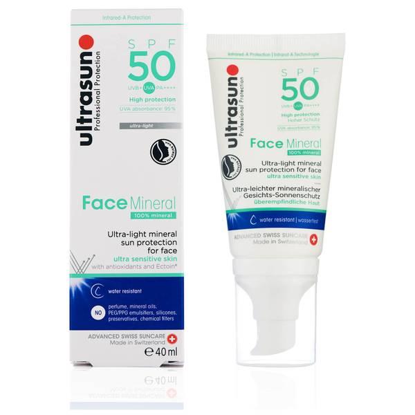 Ultrasun Mineral Face SPF50 Lotion 40ml