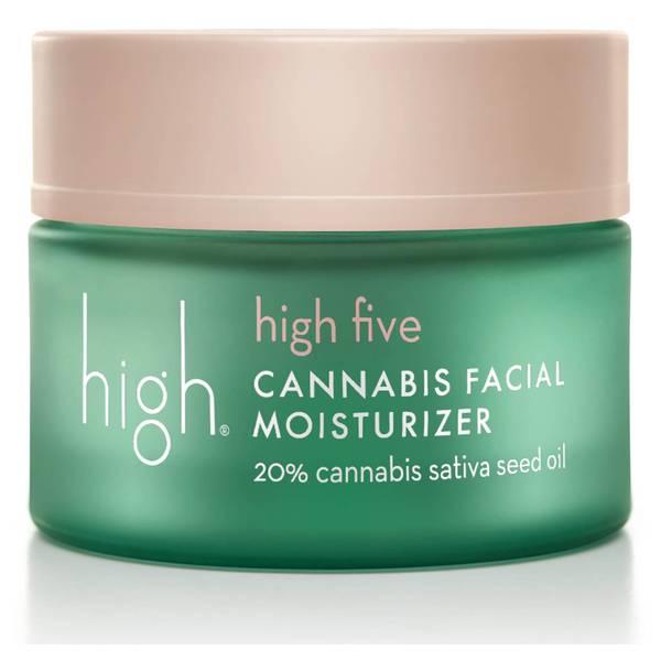 High Five Cannabis Facial Moisturiser 20% Cannabis Sativa Seed Oil 1.7 oz/50ml