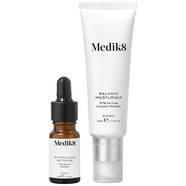 Medik8 Balance Moisturiser 50ml and Glycolic Acid Activator 10ml