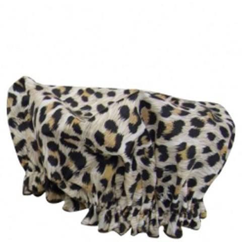 Hydrea London Eco Friendly Shower Cap – Leopard