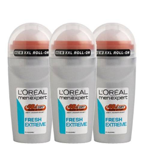 L'Oréal Paris Men Expert Fresh Extreme Deodorant Roll-On (50ml) Trio