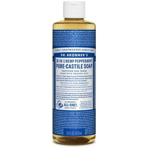 Dr. Bronner Organic Peppermint Castile Liquid Soap (473ml)
