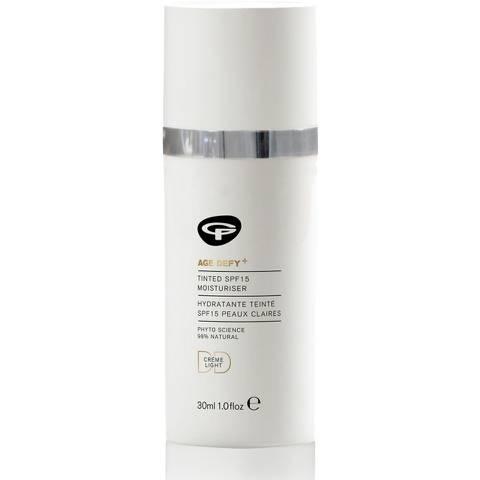 Crème hydratante teintée FPS 15 Age Defy+ Green People - peaux claires(30 ml)