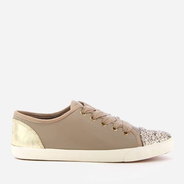 KG Kurt Geiger Nude Lucca flat lace up low top trainer