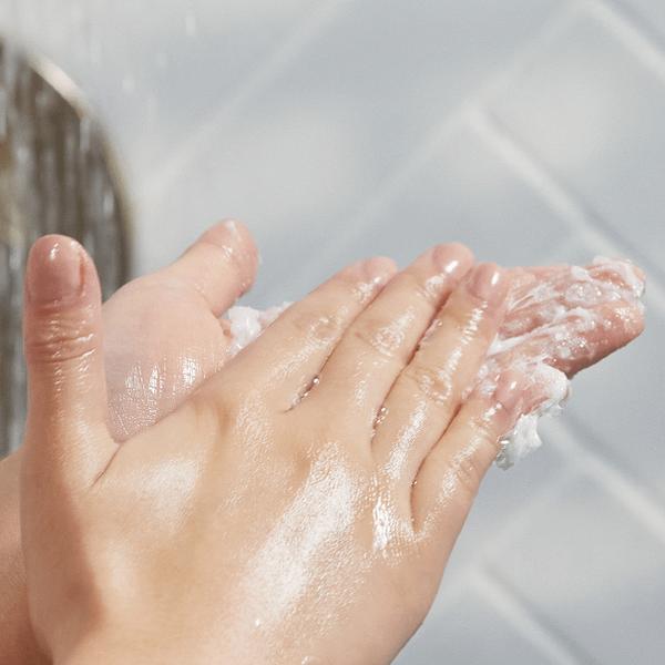 2. Use a small amount of shampoo
