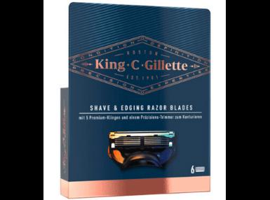 King C. Gillette Shave & Edging Razor Blades, Bartrasierer Ersatzklingen 6er Pack