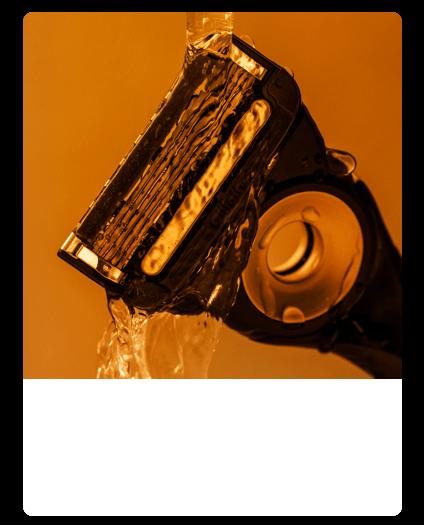 Close-up of GilletteLabs Heated Razor blades