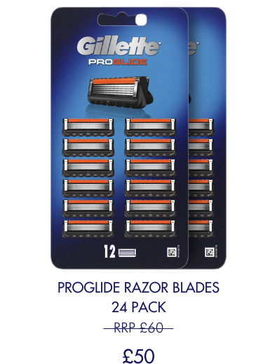 Save £10 on 24 pack of Proglide blades