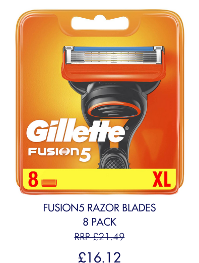 Save 25% on 8 count Fusion5 Blades