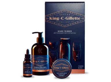 King C. Gillette Beard Trimmer & Beard Care Kit