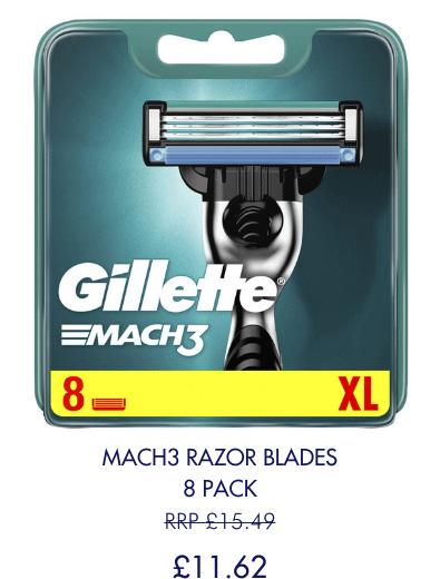 Save 25% on 8 count Mach3 Blades