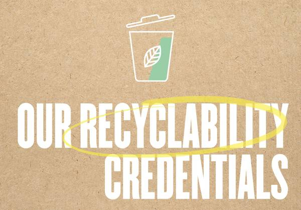 Our Recyclability Credentials