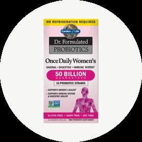 Adaptado al apoyo de las mujeres, Once Daily Women's contiene diversas mezclas de 15 cepas de probióticos y una poderosa cantidad de 50 mil millones de UFC para apoyar la salud del sistema digestivo e inmunológico.