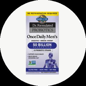 Una fórmula única exclusiva para hombres, con un recuento de alta potencia de probióticos beneficiosos elaborados a partir de diversas cepas.