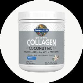 Añada los poderosos beneficios de nuestro MCT de coco con colágeno alimentado con hierba en cualquier momento a un batido, batido o en productos horneados.
