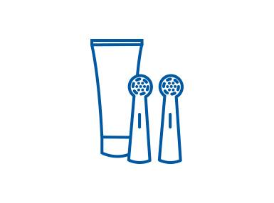 Oral-B Toothbrush Head & Toothpaste Icon