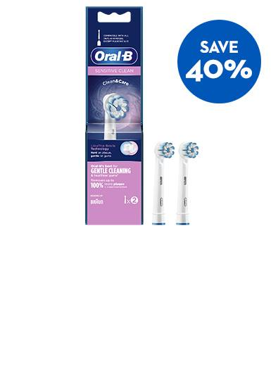 Save 40% off Sensitive Clean Toothbrush Heads