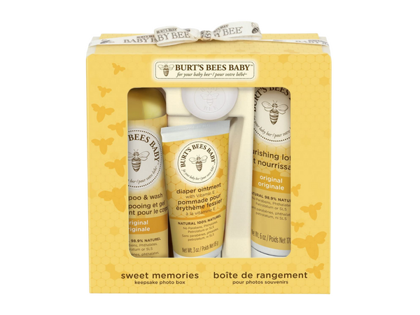 Burt's Bees Baby Gift Set including a baby shampoo, diaper ointment and nourishing baby lotion