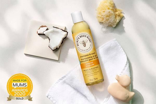 Burt's Bees Baby Shampoo & Wash has won a gold award at the 2020 Made for Mums Awards
