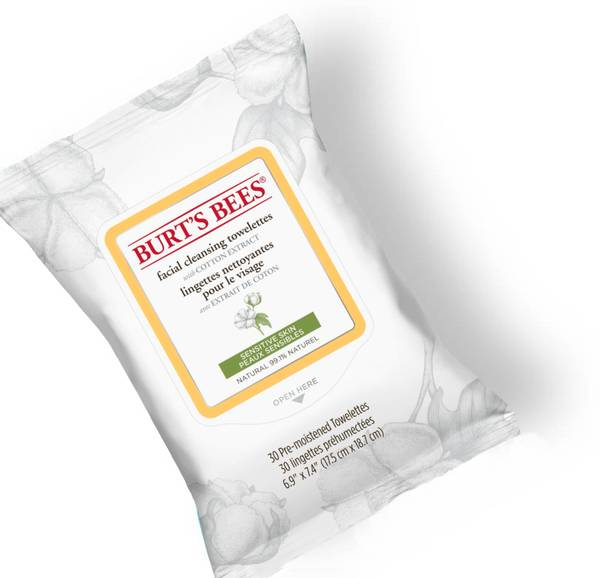 Burt's Bees Sensitive Skin Facial Cleansing Towelettes