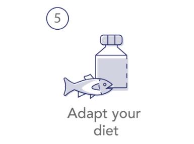 5. Adapt your diet
