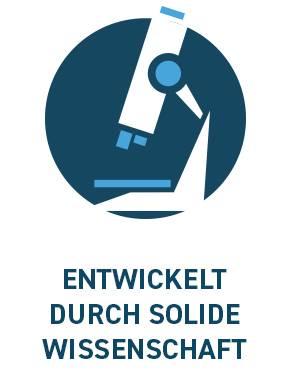 ENTWICKELT DURCH SOLIDE WISSENSCHAFT