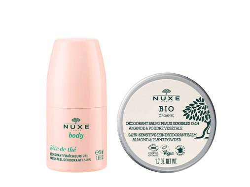 Guaranteed freshness with NUXE's subtly scented deodorants