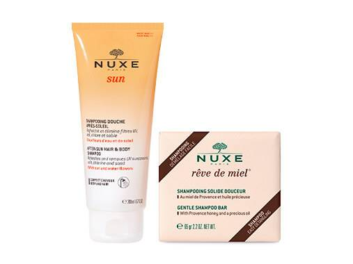 Discover our selection of Nuxe shampoos for your hair.