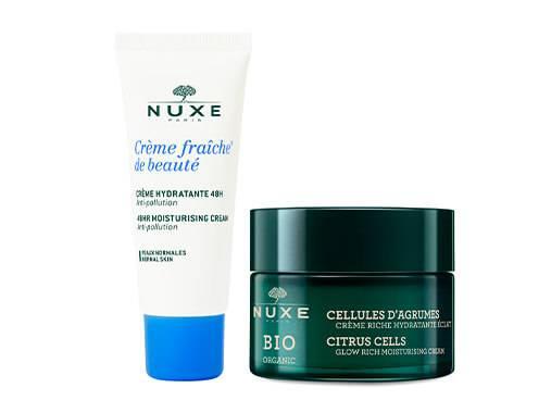 Jour après jour, retrouvez une peau rayonnante de beauté avec les soins NUXE !