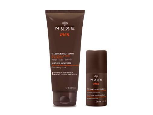 NUXE Men offre une ligne de soins multi-fonctions pour les hommes aux extraits actifs d'arbres.
