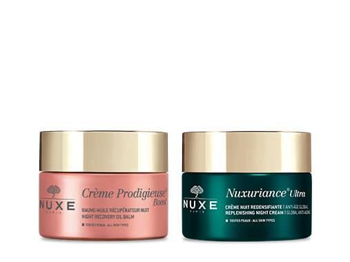 Nuit après nuit, retrouvez une peau rayonnante de beauté avec les soins NUXE !