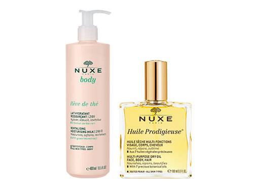 Les soins Hydratants corps Nuxe hydratent, réparent et apaisent toutes les peaux.