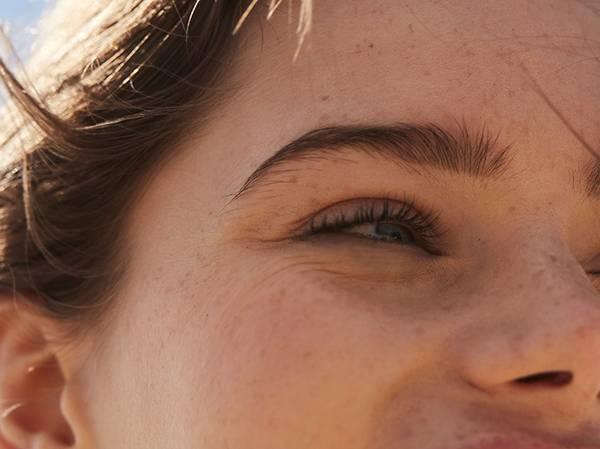 FIRST WRINKLES Skin showing slight marks