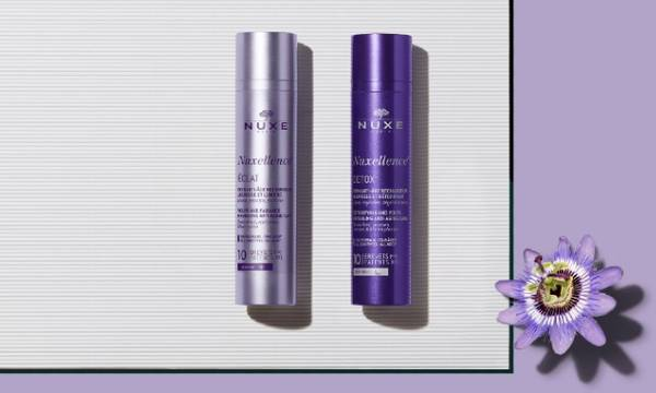 Nuxellence. Nuxe's anti ageing innovation that repairs mitochondrial DNA* and reveals youth excellence program that reveals the skin's youth. Nuxellence® is suitable for all skin types and all ages *. 10 Patents (FR)