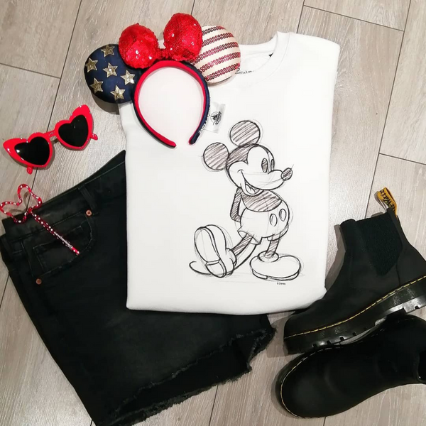 Disney Mickey Sketch Sweatshirt