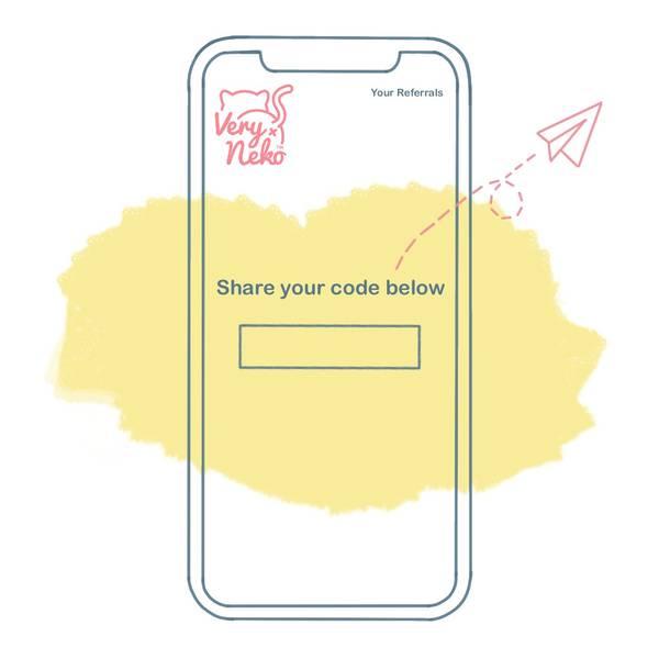 Referral Step 2 - Send to a friend & get them to purchase via the app
