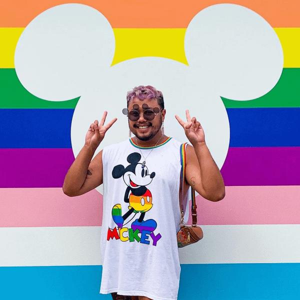 Cakeworthy Rainbow Mickey Drop Sleeve Tank