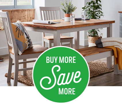 Save on Henlow dining table and chairs when bought together