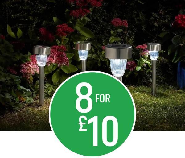 8 for £10 on Solar Marker Light