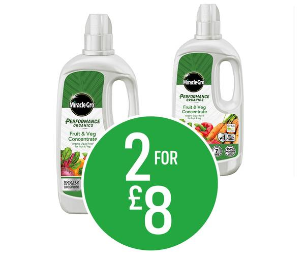 Get 2 for £8 on Miracle-Gro Perform Organics Plant Food - 1L