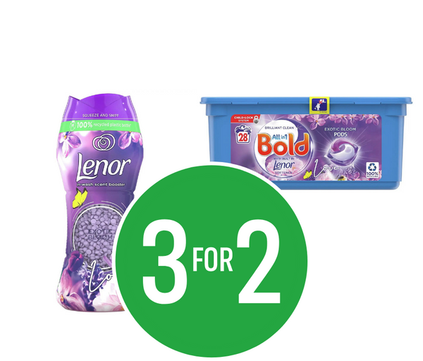3 for 2 on Exotic Bloom Laundry products Mix and Match