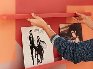 How to create a feature wall with your vinyl records