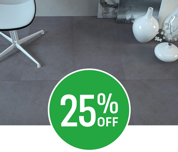25% off Oast Anthracite Floor Tile 6 pack