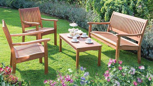 Wooden Garden Table and Chair Sets
